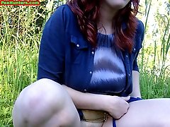 15 pictures - Spying on peeing redhair chubby teen