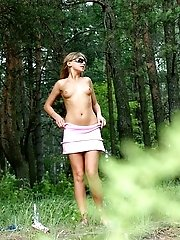 16 pictures - Forester�s pleasure � hot teen peeing in his area