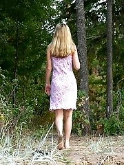 16 pictures - Bosomy blonde pleasure for a real piss hunter