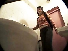 3 movies - Three girls watering the spy cam planted in univercity loo