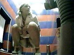 3 movies - Raunchy hotties urinates onto spy cam in public loo