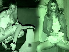0  - Gorgeous European girls take a pee outside