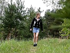 4 movies - Kinky young pisser gets all naked in the woods