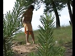 4 movies - Outdoor voyeur spies after a cute pissing chick